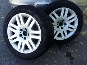 "5/120 BMW 18"" winter tires and rims great condition"