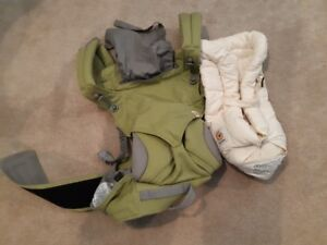 Ergo baby 360 carrier 4 position with infant insert.