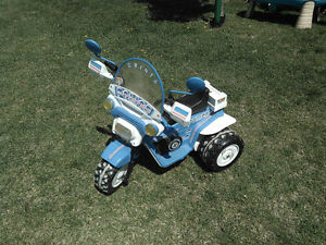 Kids Trike Police Peg Perego Electric Ride on Toy