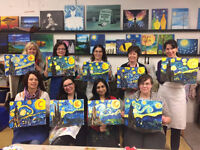 Sip and Paint Parties for Adults