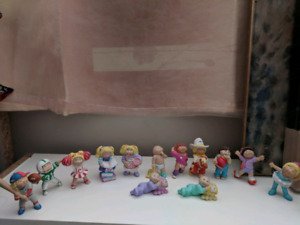 Cabbage patch kids figurine collection, $30