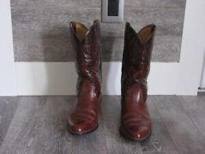 Botte Western pour homme en cuir en très bonne condition