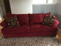 Sofa bed and love seat