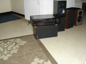 DENON RECEIVER WITH LARGE 180 WATT SPEAKERS