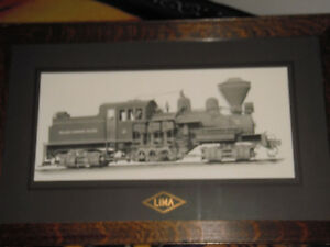 2 Pictures of Lima Shay Steam Locomotives $135.00