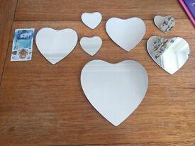 7 Heart Shaped Mirrors