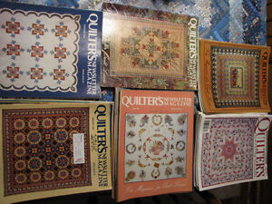 Quilters Newsletter Magazine 1981 - 1984 Complete! London Ontario image 1