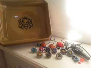 Beyblades, Lot of 9 + Arena