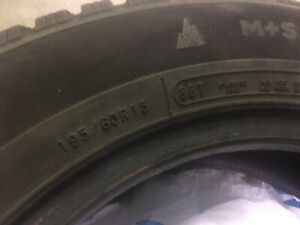 Change car . Sell winter tires for 50 dollars 195 60R15