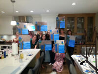 Organize a great paint night for your family, friends/ company