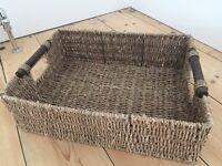 Sea grass wicker basket
