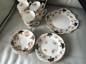 19 PIECE BONE CHINA TEA SET