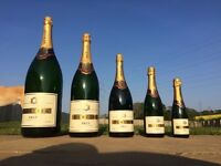 Full set of Mercier Champagne bottles