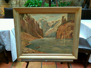 Original   Mountains   Canyon   Framed Painting   Picture London Ontario image 2