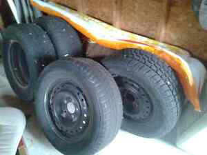 Used snow tires with good rims