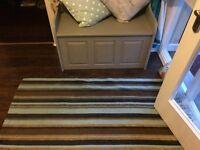 Large dunelm flat weave rug