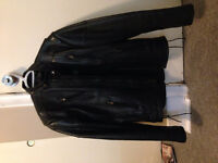 Men's Leather Motorcycle Jacket- Small