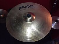 "Paiste 101 18"" Crash / Ride Drum Kit Cymbal with New Boom Cymbal Stand"