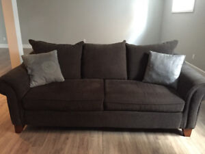 Grey sofa and love seat
