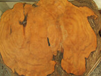 Burl table.   MUST SELL