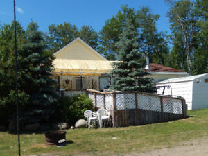 25 Acres, house on 5 acre, 20 acre is hay field, crop shared
