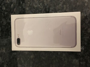 iPhone 7 plus silver 128 gb brand new sealed locked with Fido