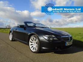 2006/06 BMW 6 SERIES 4.8 650i SPORT AUTO 2DR BLACK - 370 BHP - MEGA SPEC!