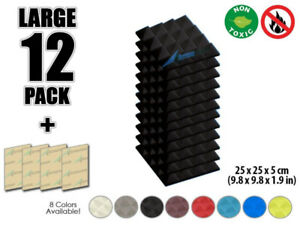 Soundproofing Panels 12 pcs 25x25cm (Pick Up Only - Final Price)
