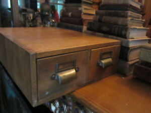 Antique Library Catalogue File Cabinet