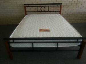 Queen Metal/Wood Frame & Innersprung Mattress. Brand New Bayswater Bayswater Area Preview
