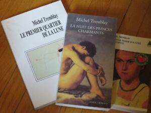 TRIO /MICHEL TREMBLAY   / ROMAN  au choix  / littérature auteur