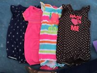 Short rompers size 6-12 months