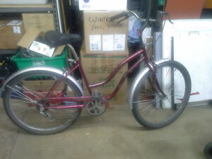 Ladies Venture 5 spd. bike for sale.