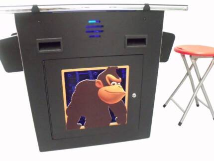 60 GAME 2 PLAYER DELUXE COCKTAIL ARCADE MACHINE LED BUTTONS