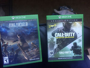 two Xbox one games for sale - Cod + Final fantasy