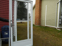 36 in winter screen door  and 32 inch exterior door
