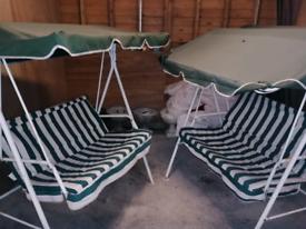 Garden swin chairs