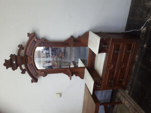 Cabinet or Dresser unit with marble
