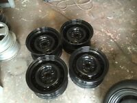 """Volkswagen t4 15"""" banded steel wheels"""