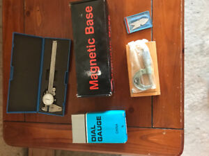 VERINER CALIPER, DIAL GAUGE AND MAGNETIC  BASE,VERINER MICROMTER