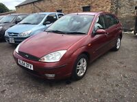 2004 Ford Focus 1.6 Zetec, 5Door, Red, 63k, MOT, FSH