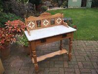 Antique Victorian Pine Washstand