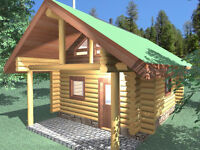 LOG CABIN SHELL /  DISCOUNTED!! / OFFER EXPIRES MARCH 21 2016