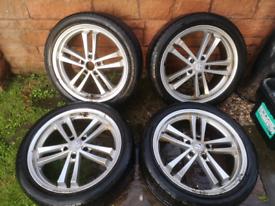 19 inch vw t5 t6 bmw alloy wheels pcd 5x120