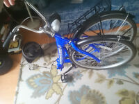 """Folding bike - full sized 24"""" wheels, no gears, and tuned up!"""