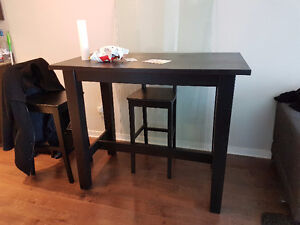 Ikea Stornas Bar Table + 2 Ingolf Bar Stools