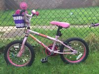 Girls Bike age up to 6 years