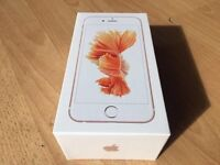APPLE IPHONE 6S 64GB ROSE GOLD BRAND NEW BOXED UNLOCKED WITH 12 MONTH APPLE WARRANTY & SHOP RECEIPT