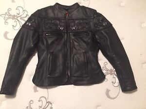 Ladies leather biker jacket brand new Strathcona County Edmonton Area image 1