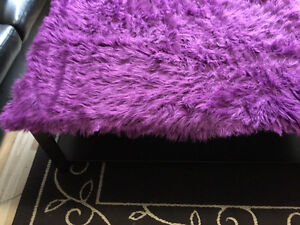 NEW Fuzzy Purple Rug